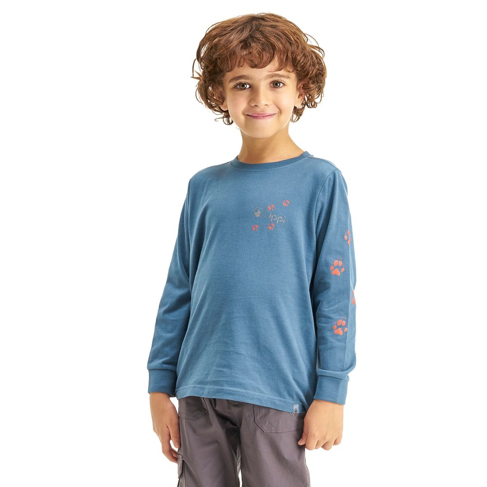 KIDS-NIÑO-Logo-Long-Sleeve-Cotton-T-Shirt-AZUL-Logo-Long-Sleeve-Cotton-T-Shirt.-Azul.-22